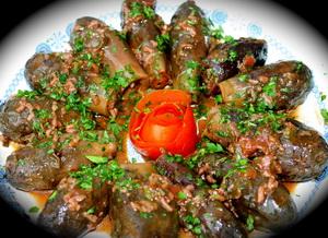 вегетарианские фаршированные баклажаны с грибами