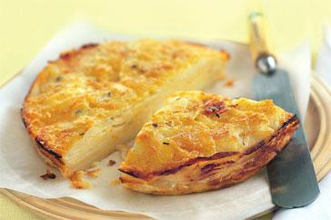 Слоёный картофельный пирог