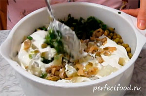 Вегетарианский салат оливье - фото-рецепт -9