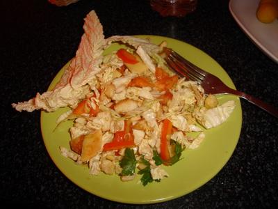 Салат из китайской капусты, помидоров, кедровых орешков