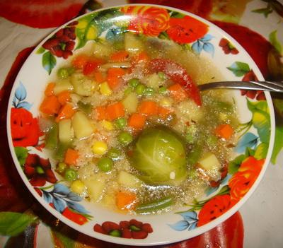 Овощной супчик с макаронами