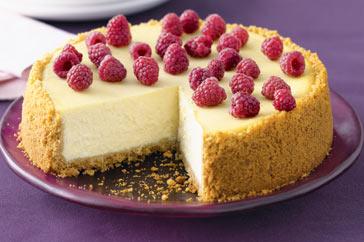Классический ванильный чизкейк с ягодами