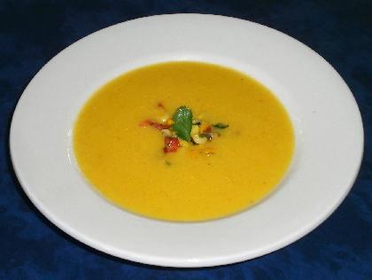 Суп из баклажанов с карри
