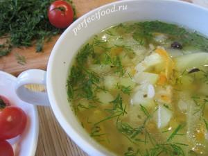 Суп из кабачков с рисом. Рецепт кабачкового супа.
