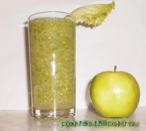 Зелёный сыроедческий коктейль