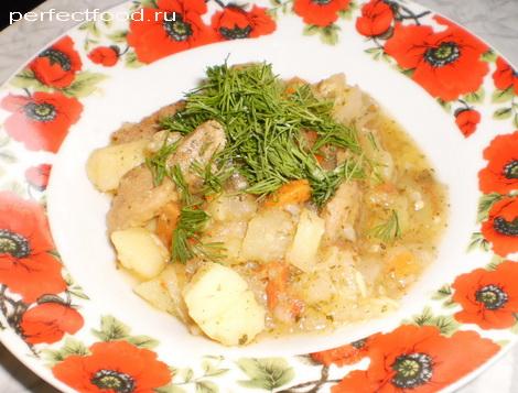 Рагу из овощей с соевым мясом