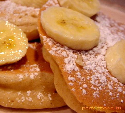 Вкусные банановые оладушки на молоке