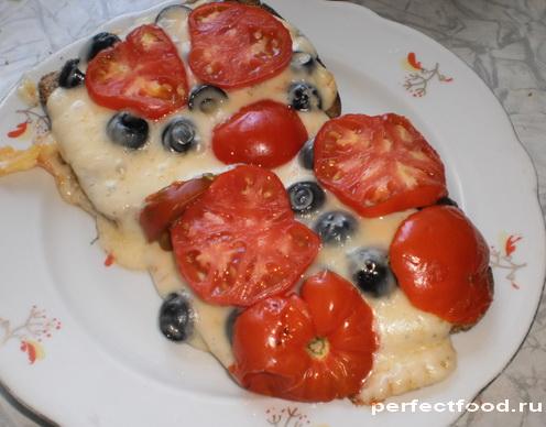 Горячие бутерброды в духовке с сыром и помидорами