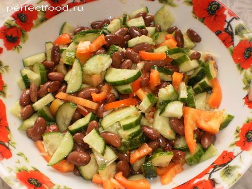 салат из консервы красной фасоли