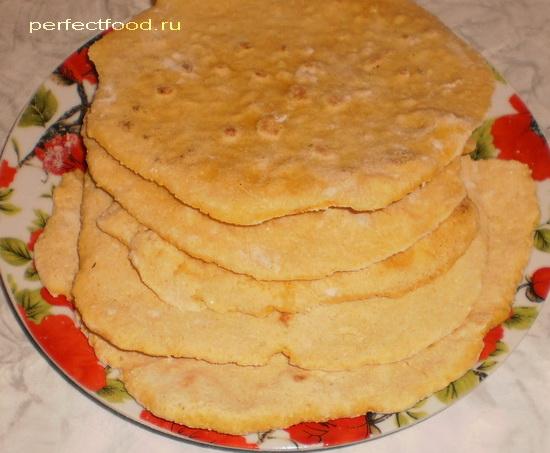 Кукурузные лепёшки тортилья — фото-рецепт