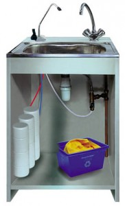 Фильтр для очистки воды под раковиной