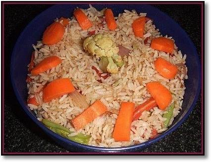 Как приготовить жареный рис с овощами