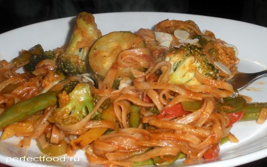 Рецепт лапши с овощами