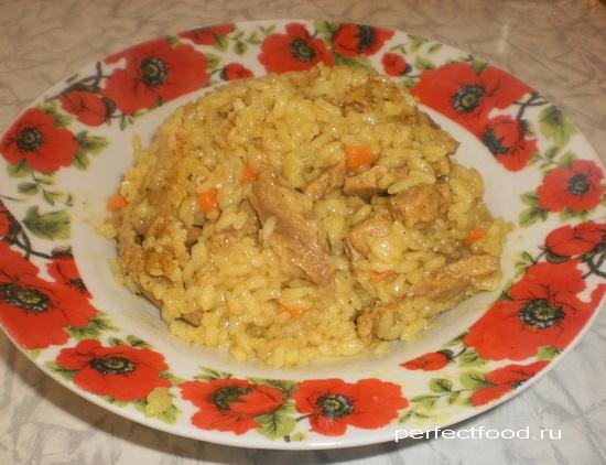 Рис с карри и соевым мясом