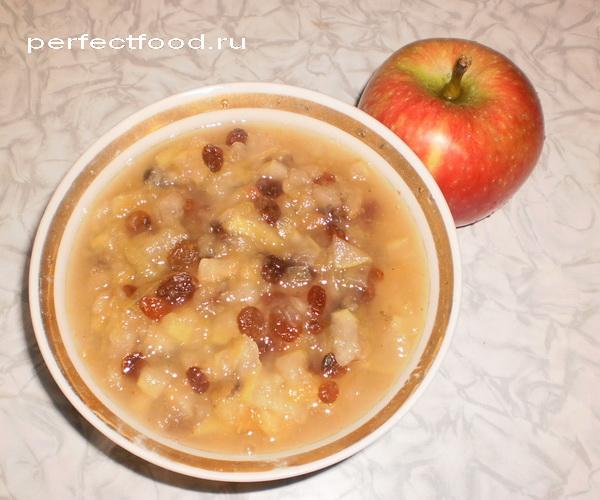 Рецепт яблочного джема с изюмом. Приготовление джема.