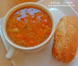 Боб чорба - болгарский томатный суп с фасолью