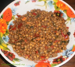 Рецепт вкусной чечевицы с овощами