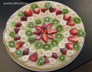 Рецепт фруктовой пиццы