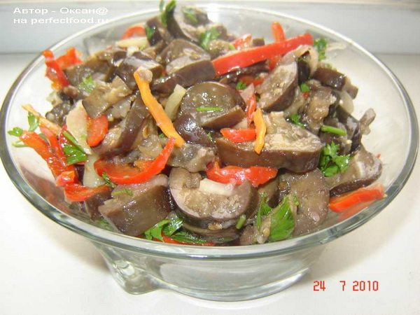 Закуска из баклажанов — манзанчики по-корейски