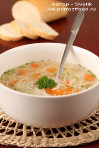 Суп с вермишелью постный - вегетарианский