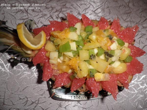 Десерт «Новогодний ананас»