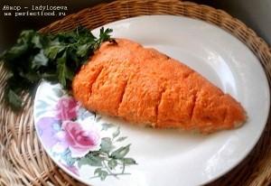 Новогодний салат Морковка