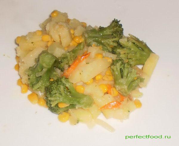 Простой рецепт из овощей — жареные овощи