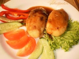 Постные картофельные зразы с грибами - рецепт