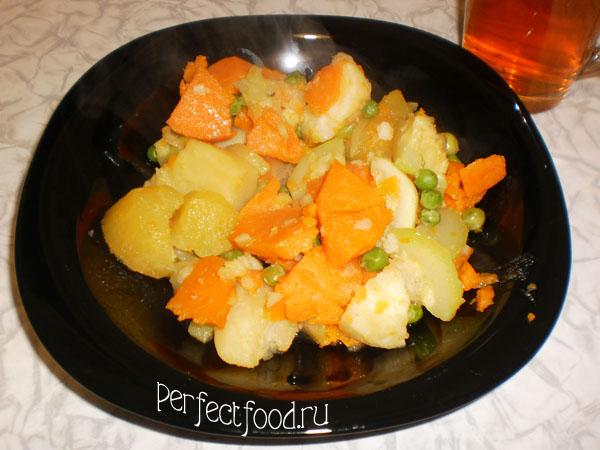 Рецепт с репой: овощное рагу