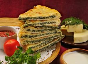 Рецепт приготовления осетинских пирогов с сыром и зеленью