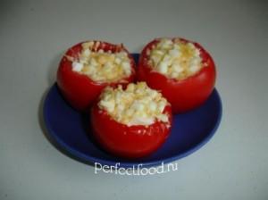 Фаршированные помидоры в духовке - с сыром и чесноком