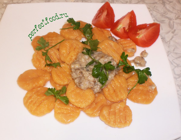 Как приготовить тыквенные ньокки в грибном соусе