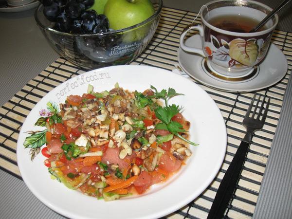 Яркий осенний салат «Встречаем осень!»