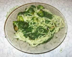 Рецепт приготовления вкусных спагетти со шпинатом