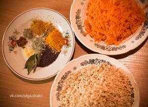 сухой соевый фарш со специями и морковью