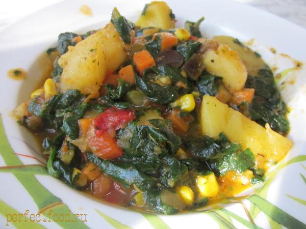 Как приготовить тушёные овощи.