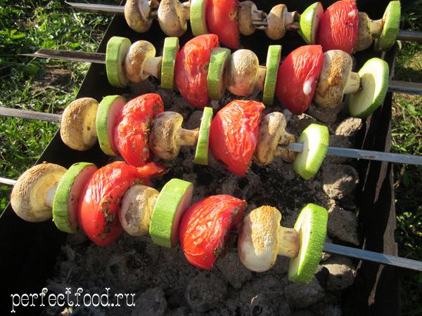 Вегетарианский шашлык - фото