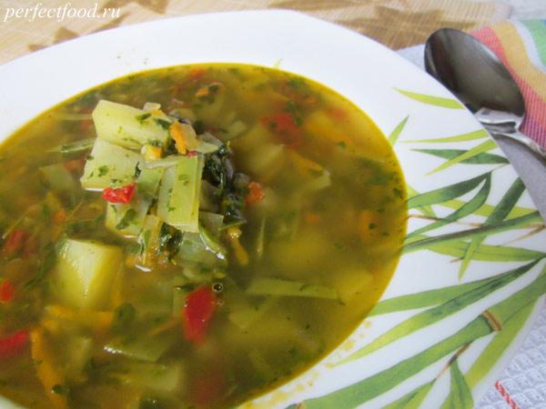 Вегетарианские щи - рецепт приготовления