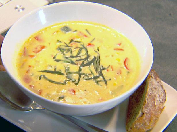 Нежный суп-пюре из овощей и кукурузы