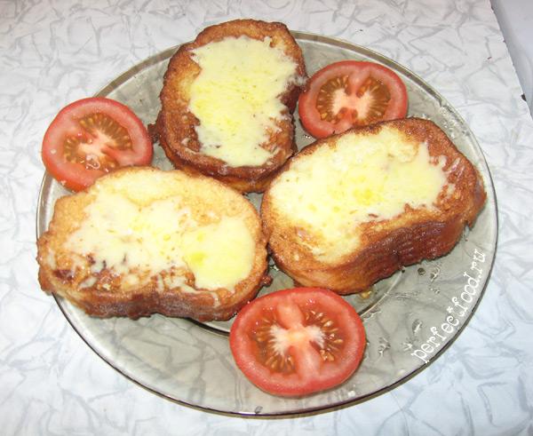 Классический рецепт гренков с сыром