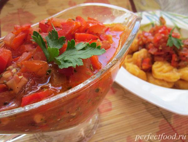 Томатный соус для ньокки - рецепт с фото