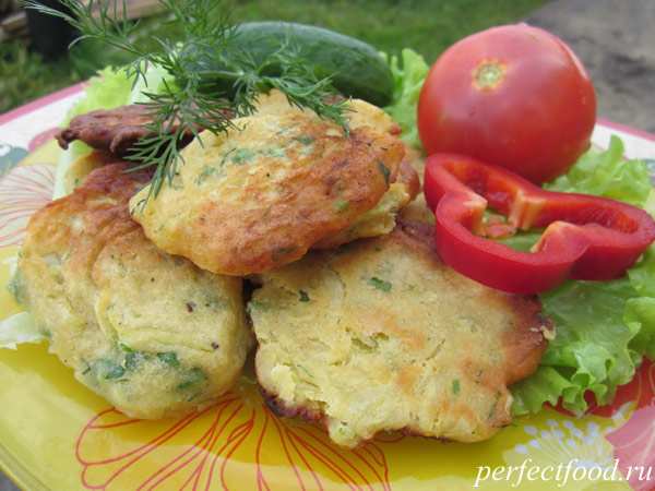 Оладьи из кабачков без яиц с зеленью — рецепт с фото и видео