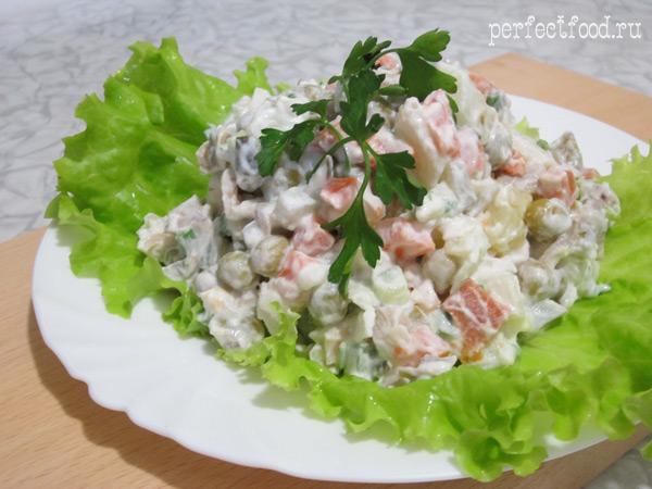 Вегетарианский салат оливье- ВИДЕО-рецепт