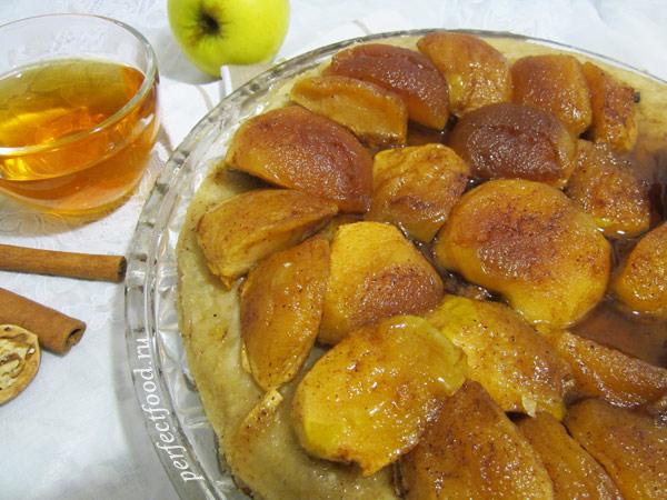 Яблочный тарт Татен — пирог-перевёртыш. Фото-рецепт.