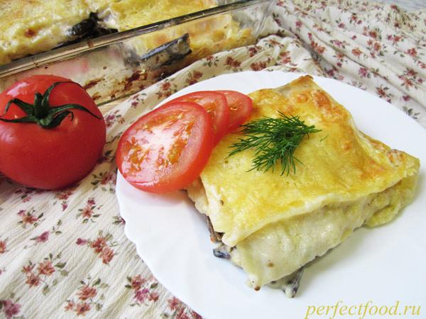 Приготовление лазаньи с баклажанами - рецепт