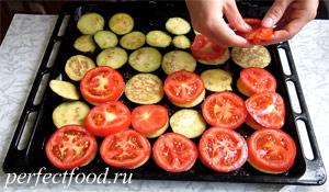 Запечённые баклажаны с помидорами и перцем - пошаговый рецепт с фото 5