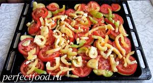 Запечённые баклажаны с помидорами и перцем - пошаговый рецепт с фото 6