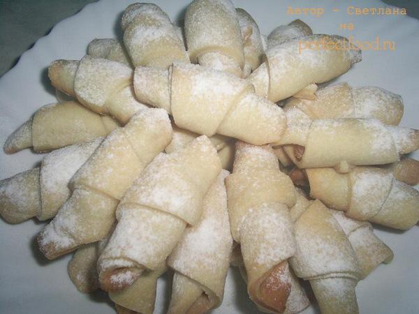 Постное Веганское печенье-трубочки с курагой