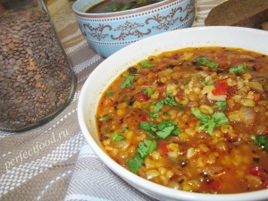 Как приготовить турецкий суп с чечевицей и булгуром - рецепт