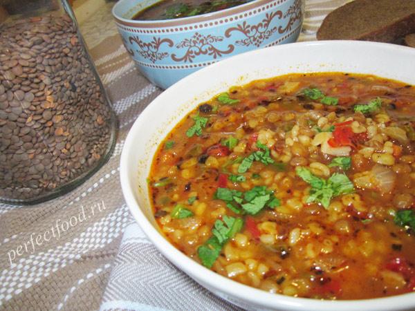 суп с булгуром вегетарианский рецепт